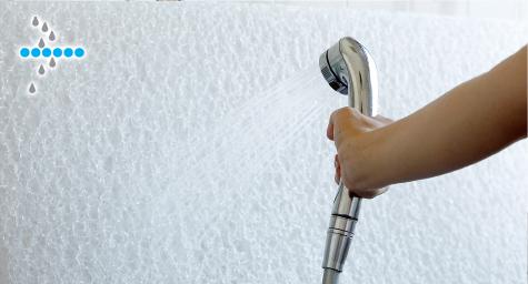 水洗いができお手入れ簡単、衛生的。
